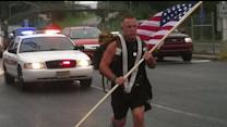 Firefighter Walks Across U.S. to Honor Fallen Soldiers