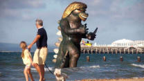 Giant Monster Statue Shocks Residents