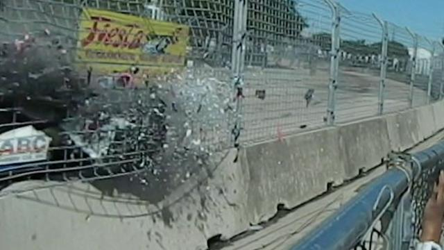 Debris Rains Down on Grand Prix Fans After Crash
