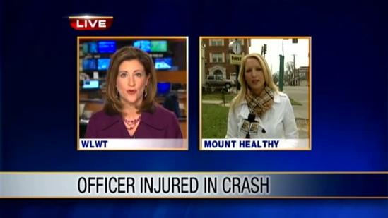 Officer, woman injured in Mt. Healthy car accident