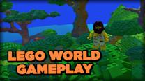 Flying a Plane, Digging Tunnels, and Riding Bears - LEGO Worlds Early Access Beta Gameplay
