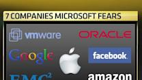 The 7 companies Microsoft fears the most