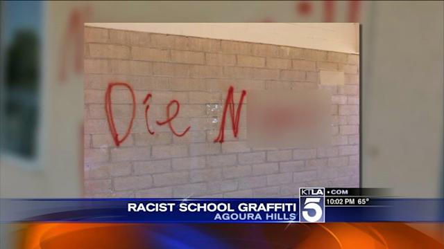 New Twist in Racist Graffiti Vandalism at Local High School