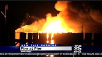 Massive Fire Burns Historic Dock In Martinez