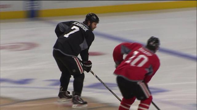 Chicago Blackhawks take on the Boston Bruins in the Stanley Cup Final