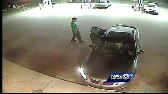 Surveillance video released in robbery, attack on football player