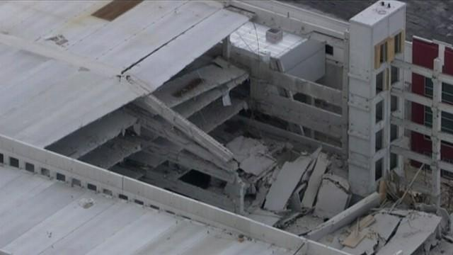 Parking Garage Under Construction Collapses