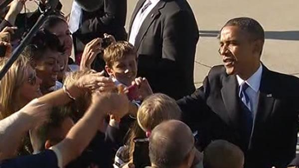 Pres. Obama's whirlwind trip brings support, protests