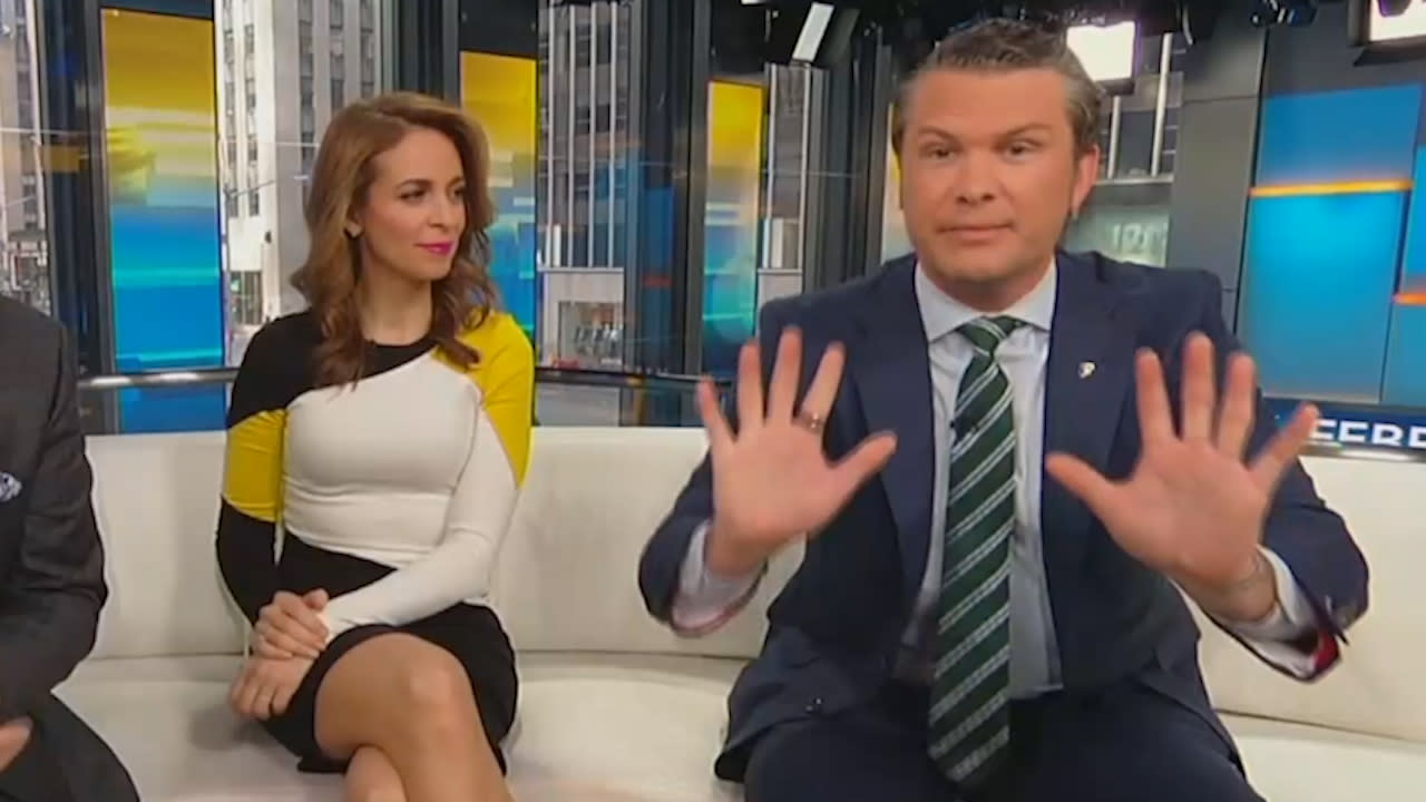 Fox's Pete Hegseth says he hasn't washed his hands in 10 years