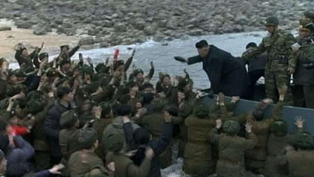 Kim visits army unit involved in shelling S. Korea