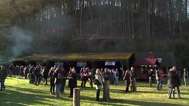Christmas tree throwing World Championships take place in Germany