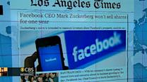 Headlines: Facebook shares won't be sold for one year