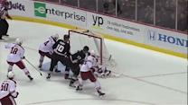 Mike Smith robs Penner on the doorstep