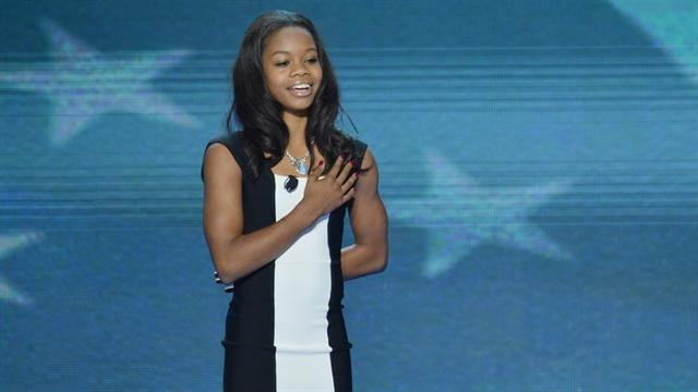 Gabby Douglas leads the DNC in the Pledge of Allegiance
