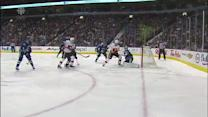 Matt Stajan lifts backhander over Luongo