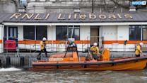 Sleeping Man Rolls Into River Thames Sparking RNLI Rescue