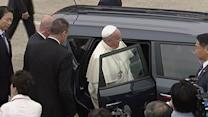 Raw: Pope Picks Surprising Ride for SKorea Trip