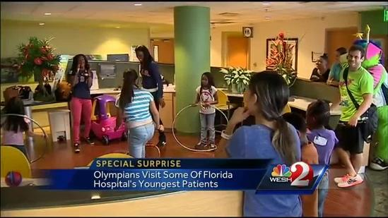 Olympians visit children at hospital