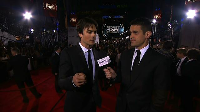 39th Annual People's Choice Awards - Red Carpet Interview: Ian Somerhalder