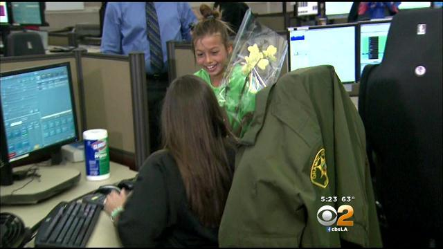 Ladera Ranch Girl Meets 911 Dispatcher Who Helped Her Through Home Fire