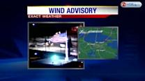 Authorities are asking drivers to take extra precaution with winds