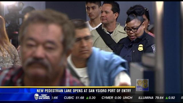 New pedestrian lane opens at San Ysidro Port of Entry