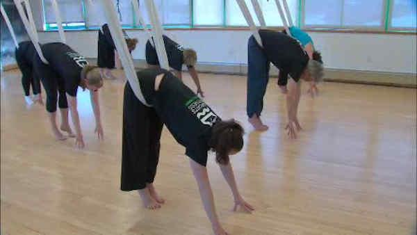 Anti-gravity yoga for back pain
