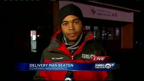 Restaurant delivery man beaten in Independence