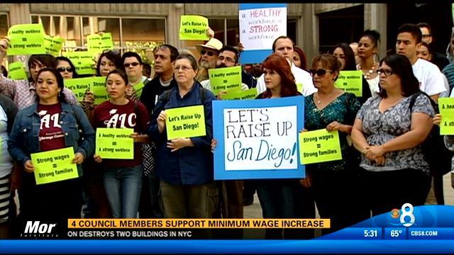 4 City Council members support minimum wage increase
