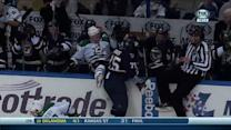 Reaves hits Nichushkin into Blues bench