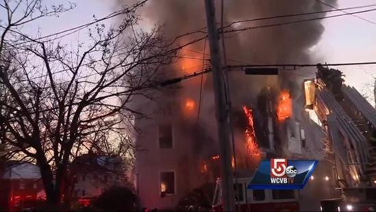 Fire rips through Victorian-style home