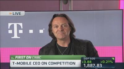 T-Mobile CEO says more customers staying longer