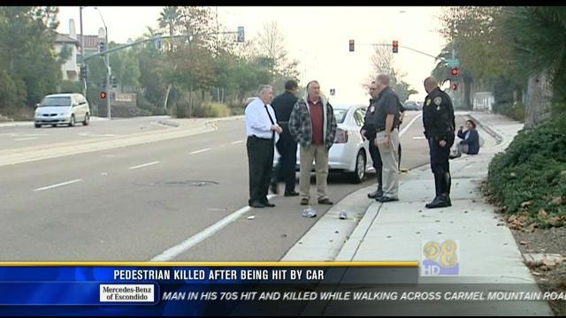 Pedestrian killed after being hit by car