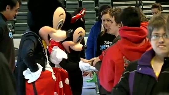 Visually-impaired students experience Disney on Ice