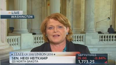Obama's speech aimed at middle class: Sen. Heitkamp