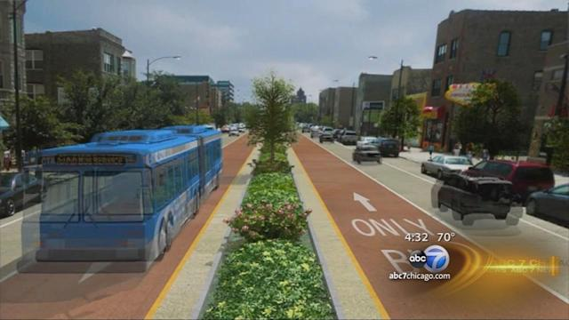 Ashland bus-only lane proposed from Irving Park to 95th Street
