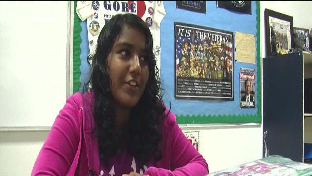 Local teen Nikitha Chandran in Scripps National Spelling Bee