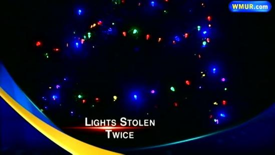 Boscawen Christmas tree lights stolen for third time