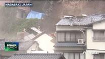 House in Japan falls off cliff