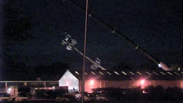 Communication tower damaged by fire brought down safely in Bensalem