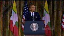 Obama to Myanmar: America is with you