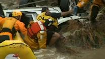 Man rescued from flooded car in Colorado