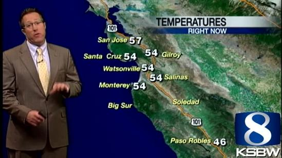 Get Your Thursday KSBW Weather Forecast 3.28.13
