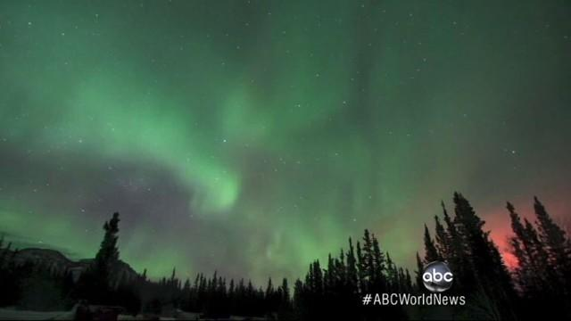 Night Sky Comes Alive With Aurora Borealis Light Show