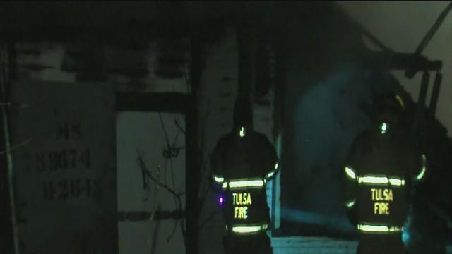 Firefighters battle abandoned building fire