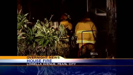 Early morning Pearl Harbor house fire intentionally set