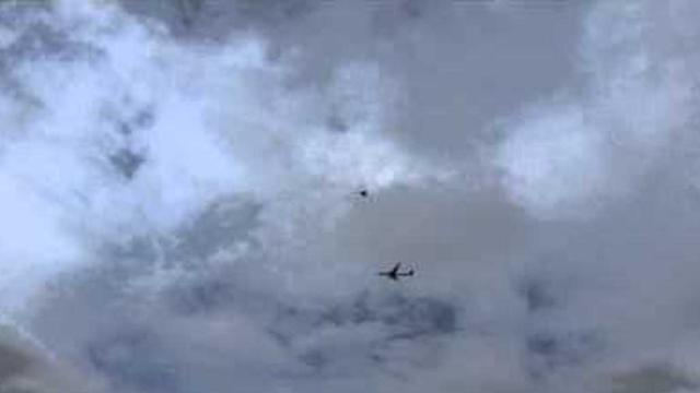 Passenger Plane Escorted by RAF Jet to Manchester