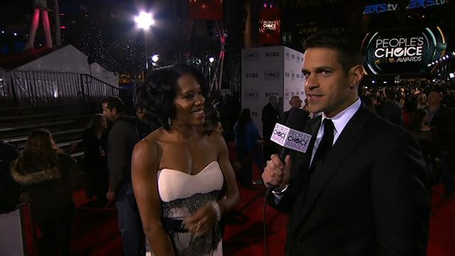 39th Annual People's Choice Awards - Red Carpet Interview: Regina King