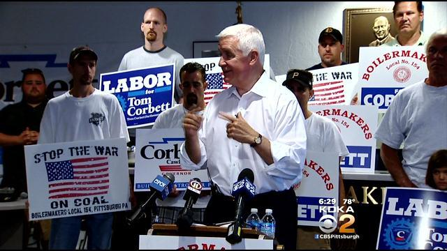 Corbett Says Pension Crisis And Property Taxes Are Key Campaign Issue