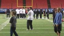 Dawgs walk though at the Dome